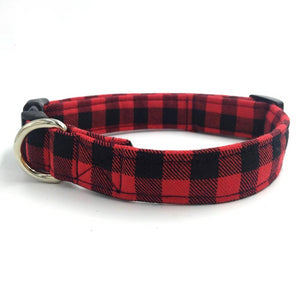 Collars & Leads for Dogs & Cats - Red Tartan Designer Collar & Bow tie - The Paw Empire