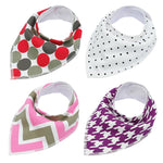 Adjustable Pet Bandana - 4 Pack Cat and Dog Collars - The Paw Empire