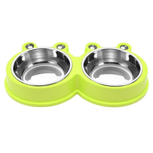 Non-Slip Stainless Steel Pet Food or Water Bowls - The Paw Empire