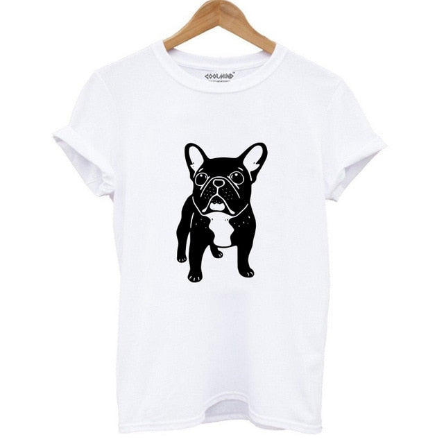 Womens Cotton T-Shirt - 4 Different Dog Prints Available - The Paw Empire