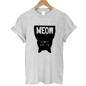 Cool Cat Womens Cotton Tees - 8 Different Cat Prints Available - The Paw Empire