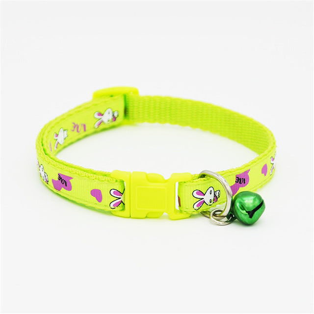 Adjustable Pet Collar and Bell - Small Cat, Kitten or Puppy Collar - The Paw Empire