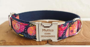 Personalised Dog Collars & Cat Collars- The Deep Graffitti- Designer Dog & Cat Collars, Bowties & Lead Sets - The Paw Empire