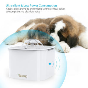 2L Automatic Pet Feeder for Cats & Dogs Pets Water Dispenser bowl EU Plug - The Paw Empire