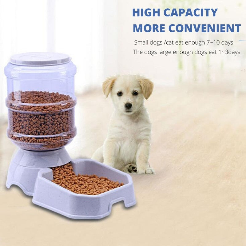 3.8L Pet Slow feed bowls - Dog & Cat automatic drinking & feeding bowls - The Paw Empire