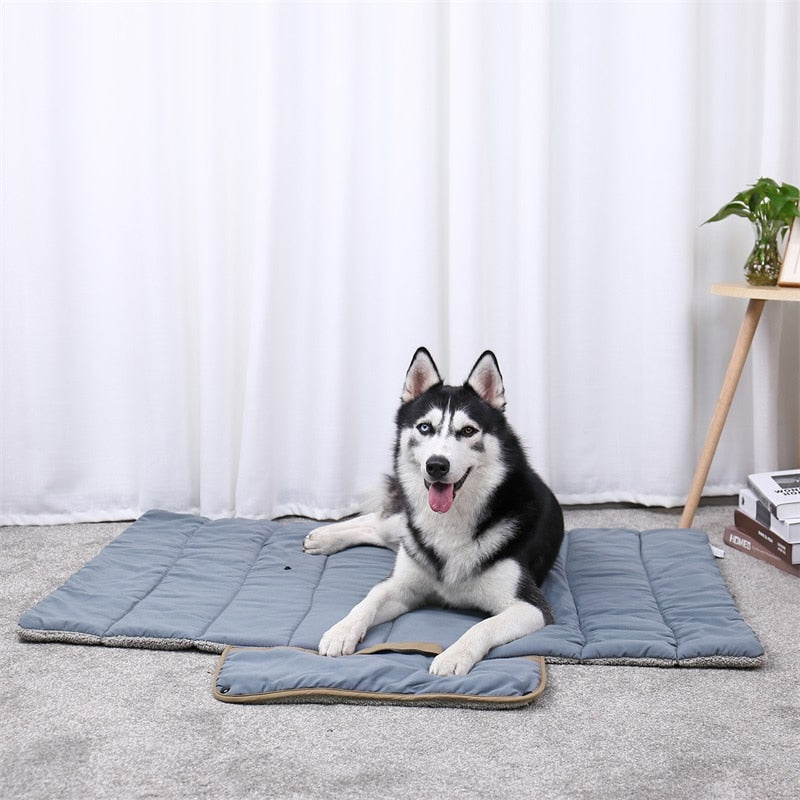 the-paw-empire - Double-Sided Dog & Cat Travel Mat - All Season Roll-up Pet Bed - Dog Bed