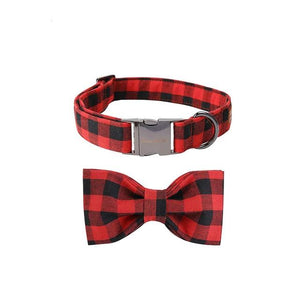 Christmas Black & Red Dog Collar- Designer Dog & Cat Collars & Lead sets - The Paw Empire