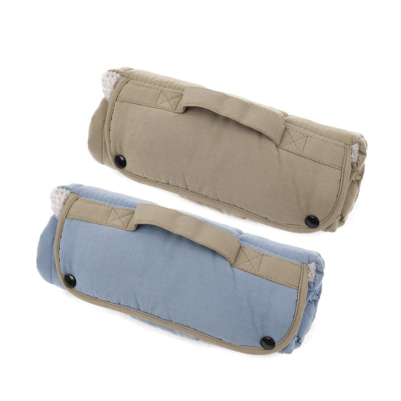 Double-Sided Dog and Cat Travel Mat - All Season Roll-up Pet Bed - The Paw Empire