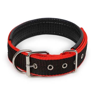 Dog Collar & Cat Collar 4.0*60cm Length  Comfortable Adjustable Nylon Strap Dog Collar For Small And Big Pet Dogs Collars 4 Color Red/Bule/Black/Green