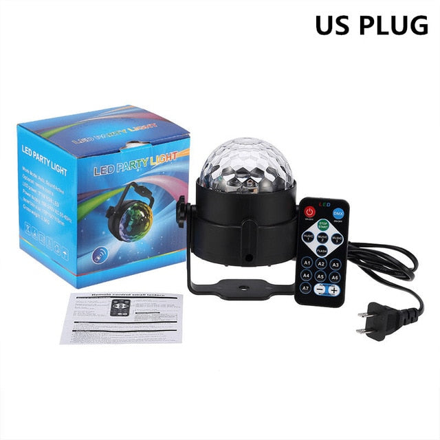 DJ Disco Ball -7 colours Laser Projector for stage Lighting - The Paw Empire