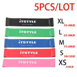 Elastic Resistance Bands 6 Levels - 3, 4, 5 and 6 Variety Strength Packs