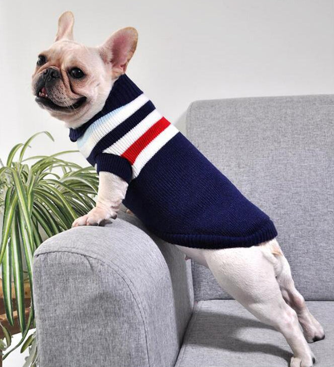 the-paw-empire - Warm Winter Jacket for Small Dogs & Cats - Winter Knit Jumper- Small Pets Range of patterns - Dog Clothes