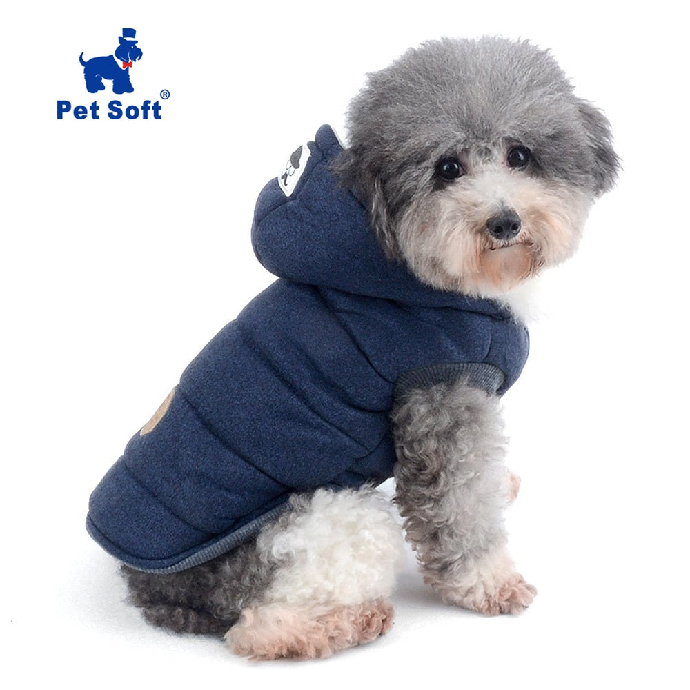 the-paw-empire - Dog Jacket with Hood- Soft winter vest style coat for Cat, Puppy & small Pets - Coats & Jackets
