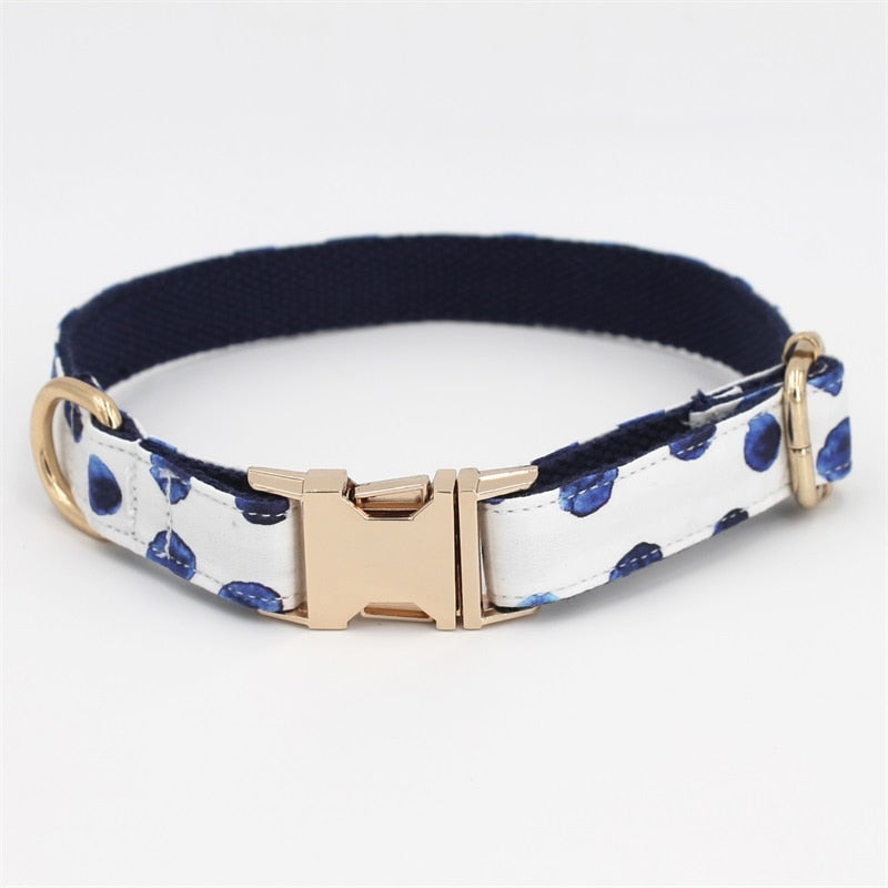 White Floral Print - Designer Dog & Cat Collars - The Paw Empire