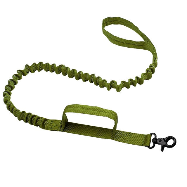 Army Tactical Dog Leash- Heavy Duty Nylon Bungee Leads For training Medium & Large Dogs - The Paw Empire