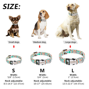 Nylon Dog Collar- Funky Engraved Collars For Small Medium Large Dogs - The Paw Empire