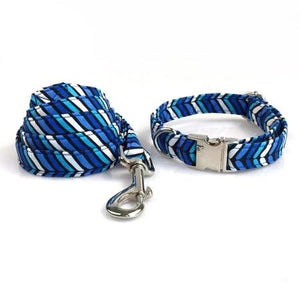 Wave Plaid Pattern-Designer Collars & leads for Dogs & Cats - The Paw Empire