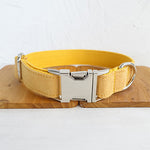 Dog Collar & Cat Collars- Yellow Personalised Designer Pet Collars, Bowties & Lead sets