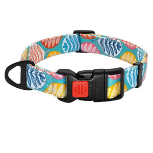 Funky Patterned Dog &Cat Collars- Nylon Printed Pet Puppy Adjustable collar - The Paw Empire