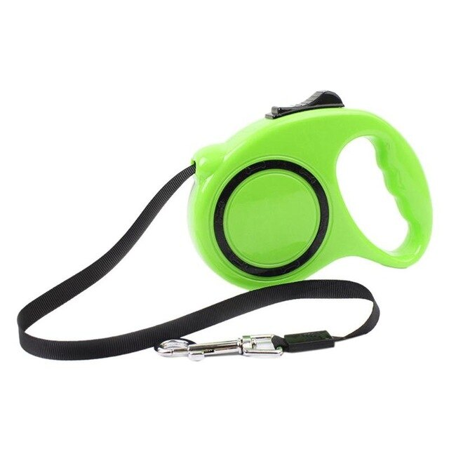 Retractable Dog Leashes 3 m& 5m -Automatic Extending Nylon Walking Dog Lead - The Paw Empire