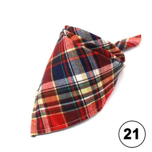 Dog Bandanas & Cat Bandanas- Funky Plaid Adjustable Scarf Neckerchief for Dogs & Cats