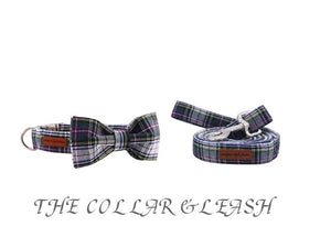 Purple Tartan Dog Collar- Designer Dogs & Cat Collars & Leads sets - The Paw Empire