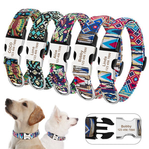Cute and Stylish Designer collars -Custom Dog & Cat adjustable Collars with ID - The Paw Empire