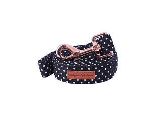 The Asen Black Polka Collar, Bowties & Leash Sets- Designer Collars & Lead for Cats & Dogs - The Paw Empire