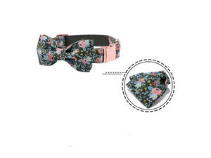 Funky Flora Dog Collar- Designer Collars, Leads & Bowties for Dogs & Cats - The Paw Empire