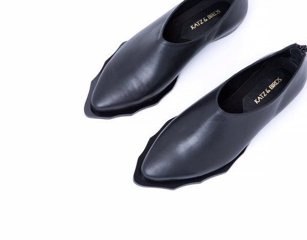 Jupiter- curved sole - black