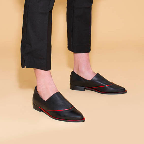 Brandy - Red Sole Flat Shoes