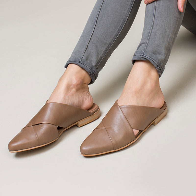 Brown Mules - Stork