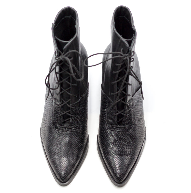 Quartz - Black Lace Up Boots