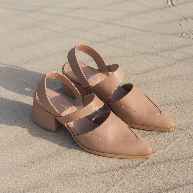 Bermuda -  Nude Leather Sandals