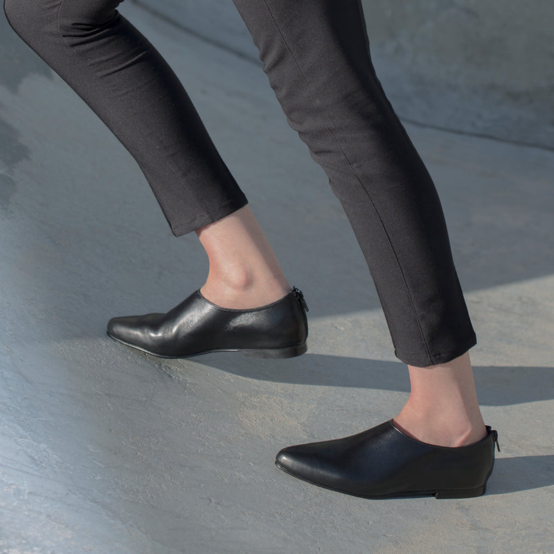 Black Flat Shoe - Sparrow