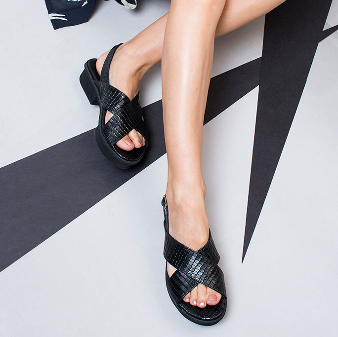 Jade -  Black designer Sandals