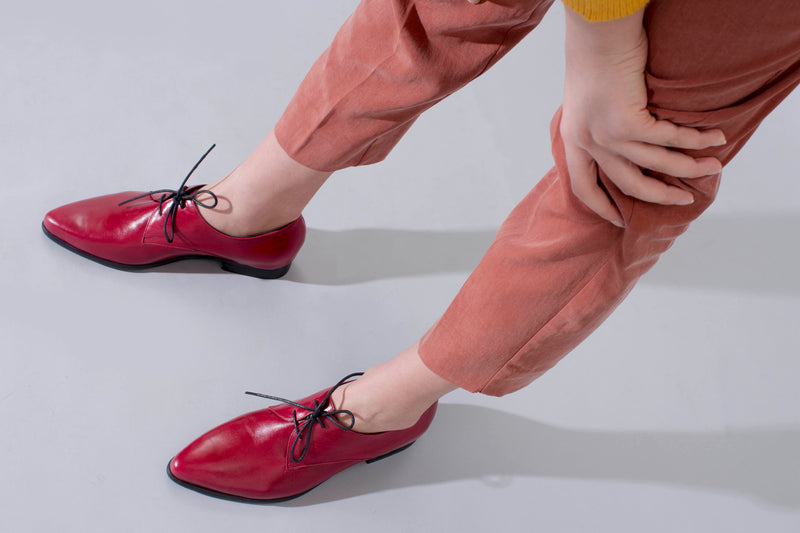 Red Oxfords - pointed shoes