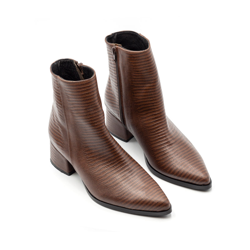 Dark Brown Heeled Boots
