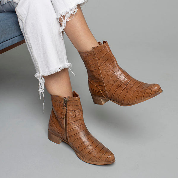 Brown Crane - Ankle Boots
