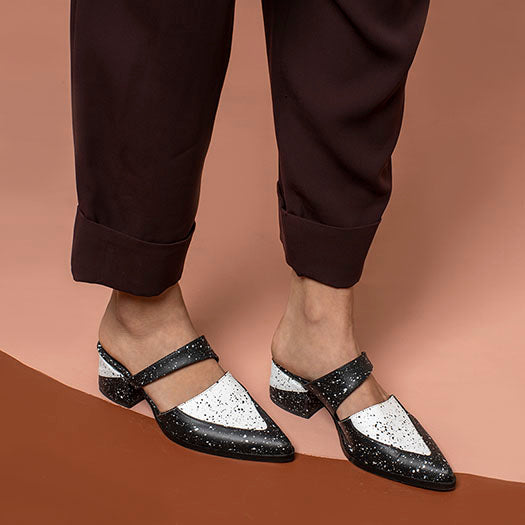 Black and White - Bermuda - Slip Ons