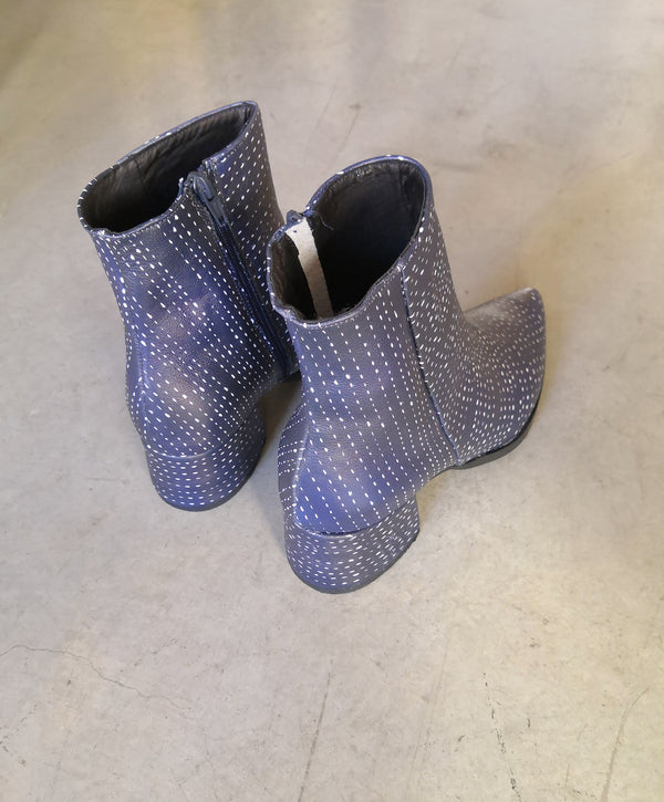 Blue Printed Boots