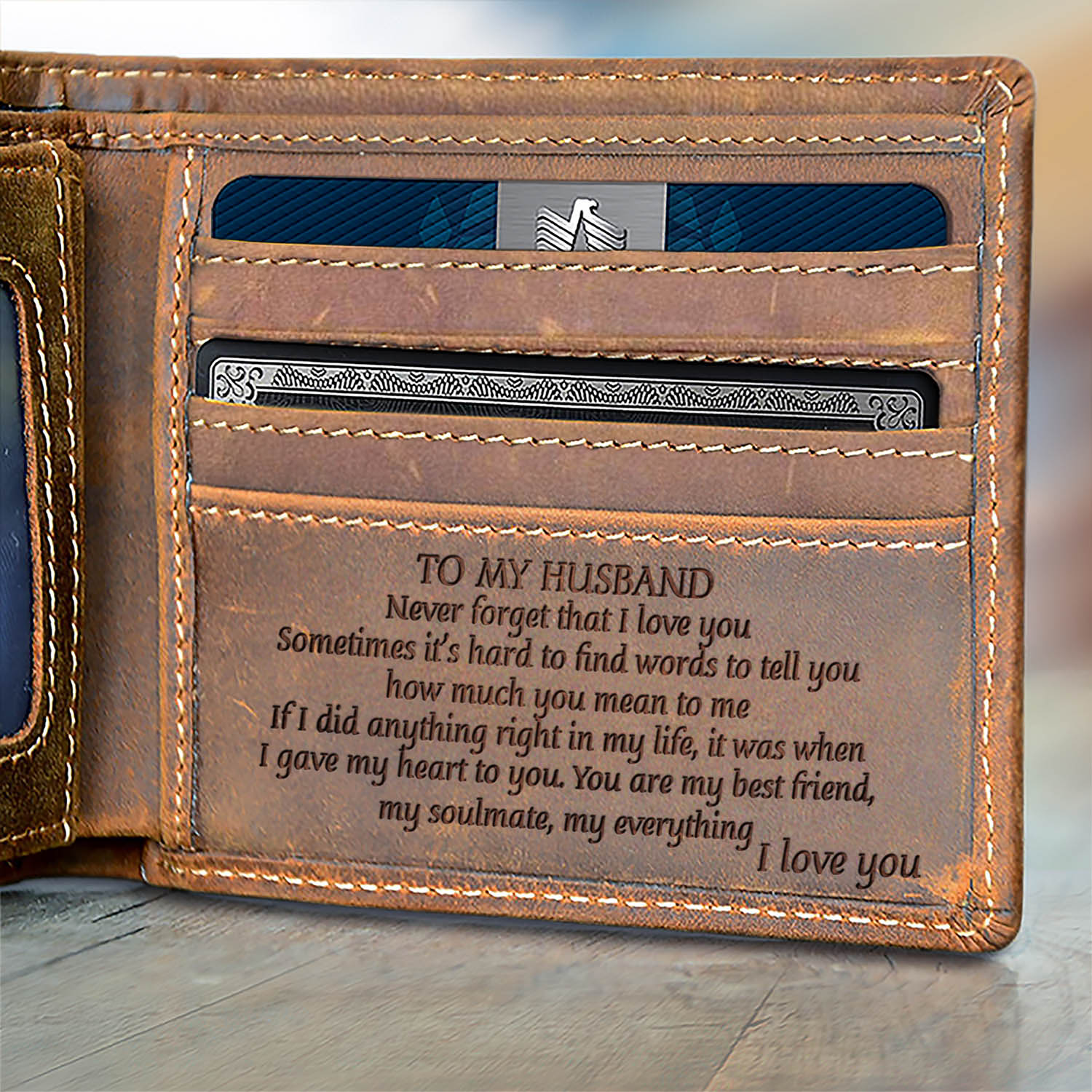V1705 Youre My Everything For Husband Engraved Wallet Chloros