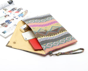 Leslie Multi-Patterned Envelope Clutch