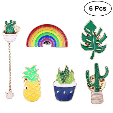 Colorful Brooches 6pc