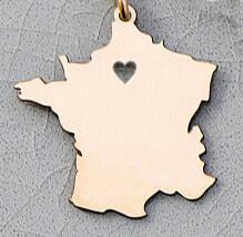 France Map Necklace