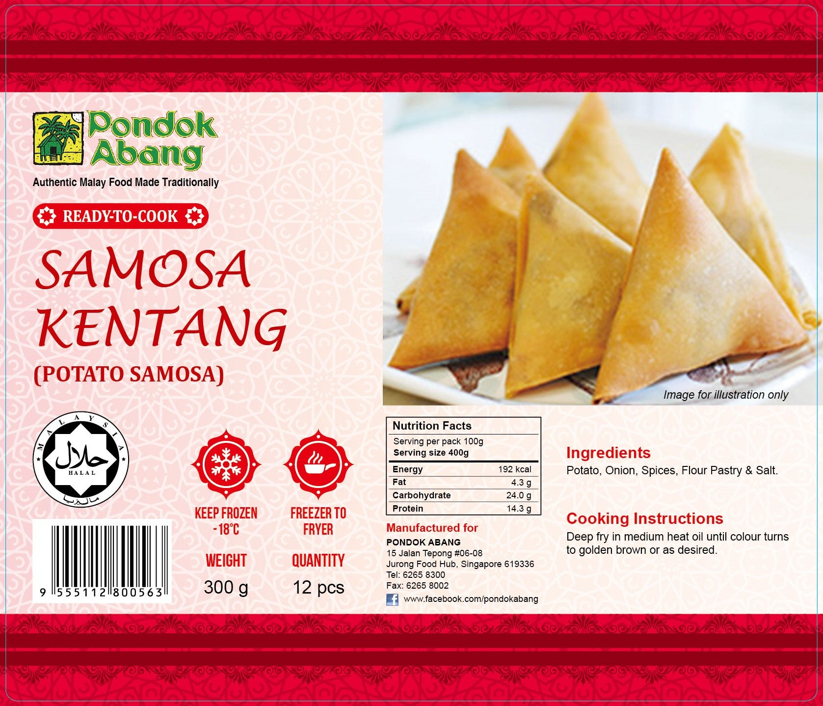 Potato Samosa (Samosa Kentang)