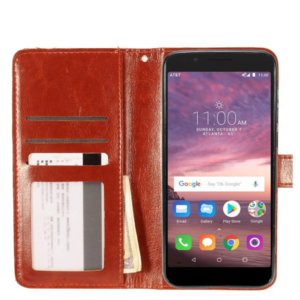 Alcatel 1X Hybrid Magnetic Wallet Case Cover