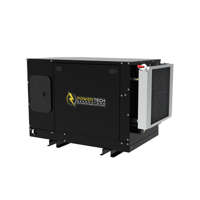 Enclosed quiet diesel mobile generators