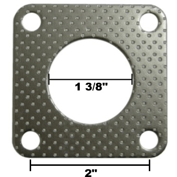 4 Bolt Exhaust Flange Gasket for Kubota 02, 03, and 05