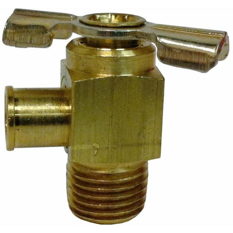 Brass Oil Draincock 90 Degree 1/4